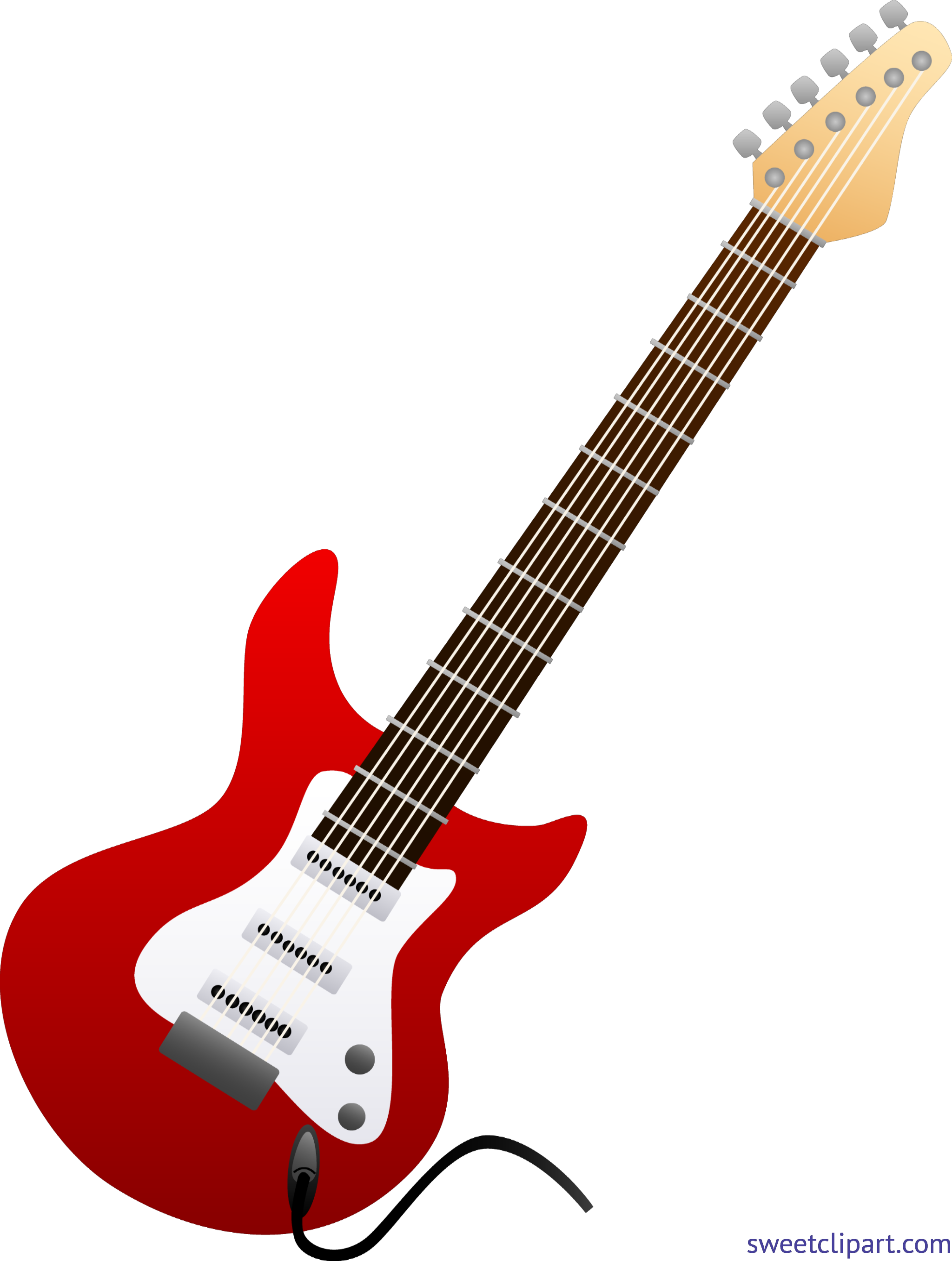 Guitar red clip art. Electrical clipart electric post