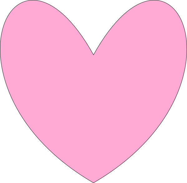 Heart outline clip art. Hearts clipart pink