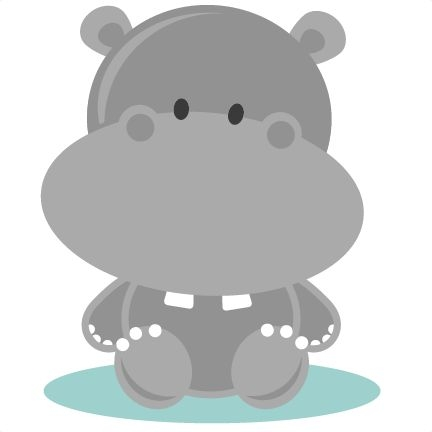 Clipart hippo baby hippo. Free cute cliparts download