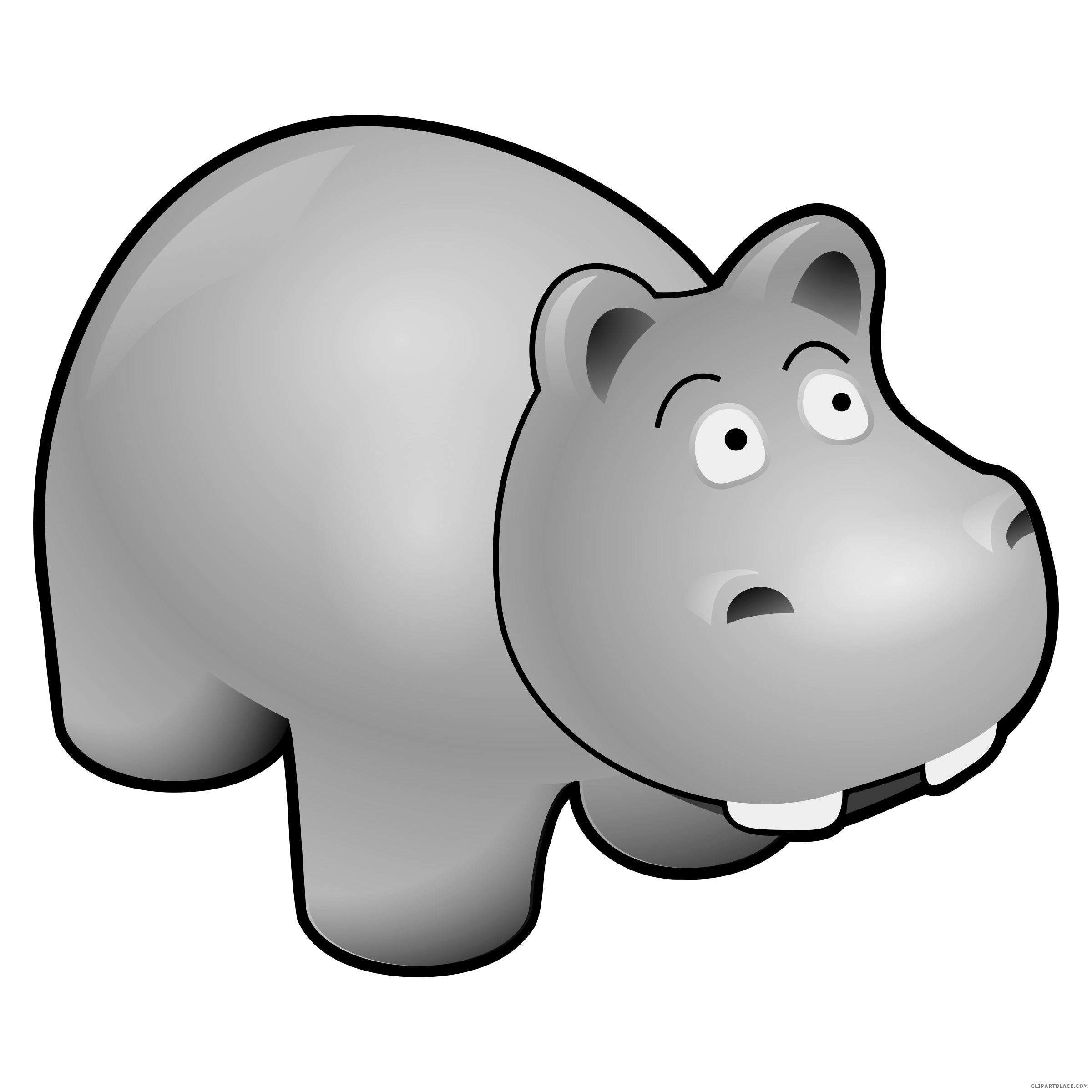 Clip art black and. Clipart hippo dancing
