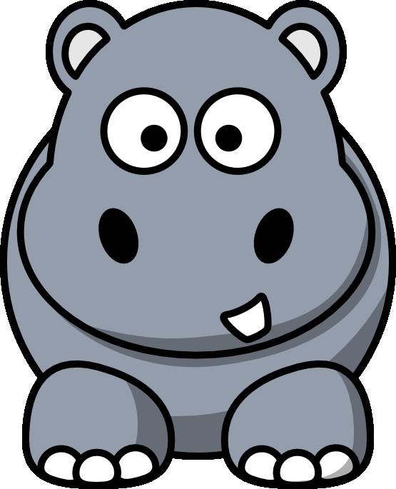 Image of baby hippopotamus. Hippo clipart moving