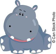 Clip art vector and. Clipart hippo baby hippo