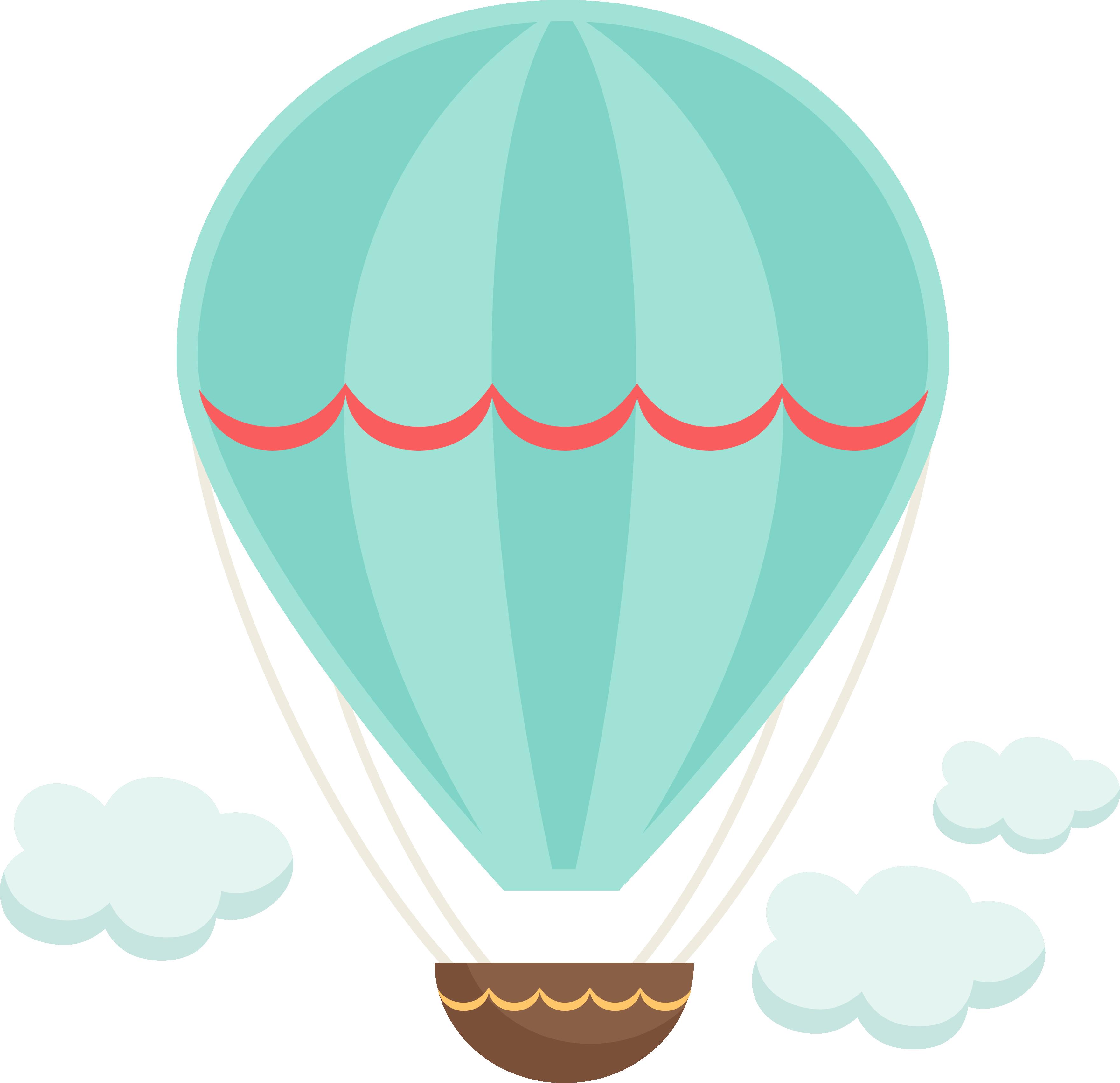 Clipart balloons vintage. Hot air balloon scrapbooking