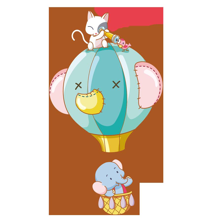 Clipart balloon peach. Cartoon animal clip art