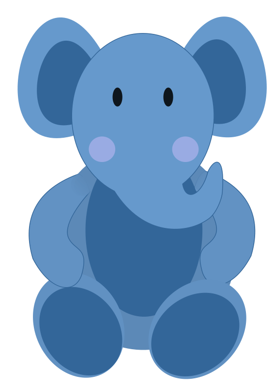 Free clipart fox. Baby elephant blue kid