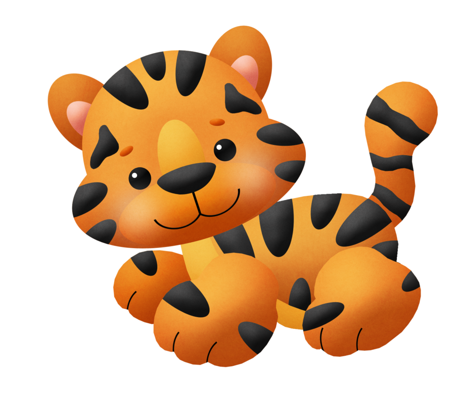 Baby kitty or clip. Clipart tiger kid