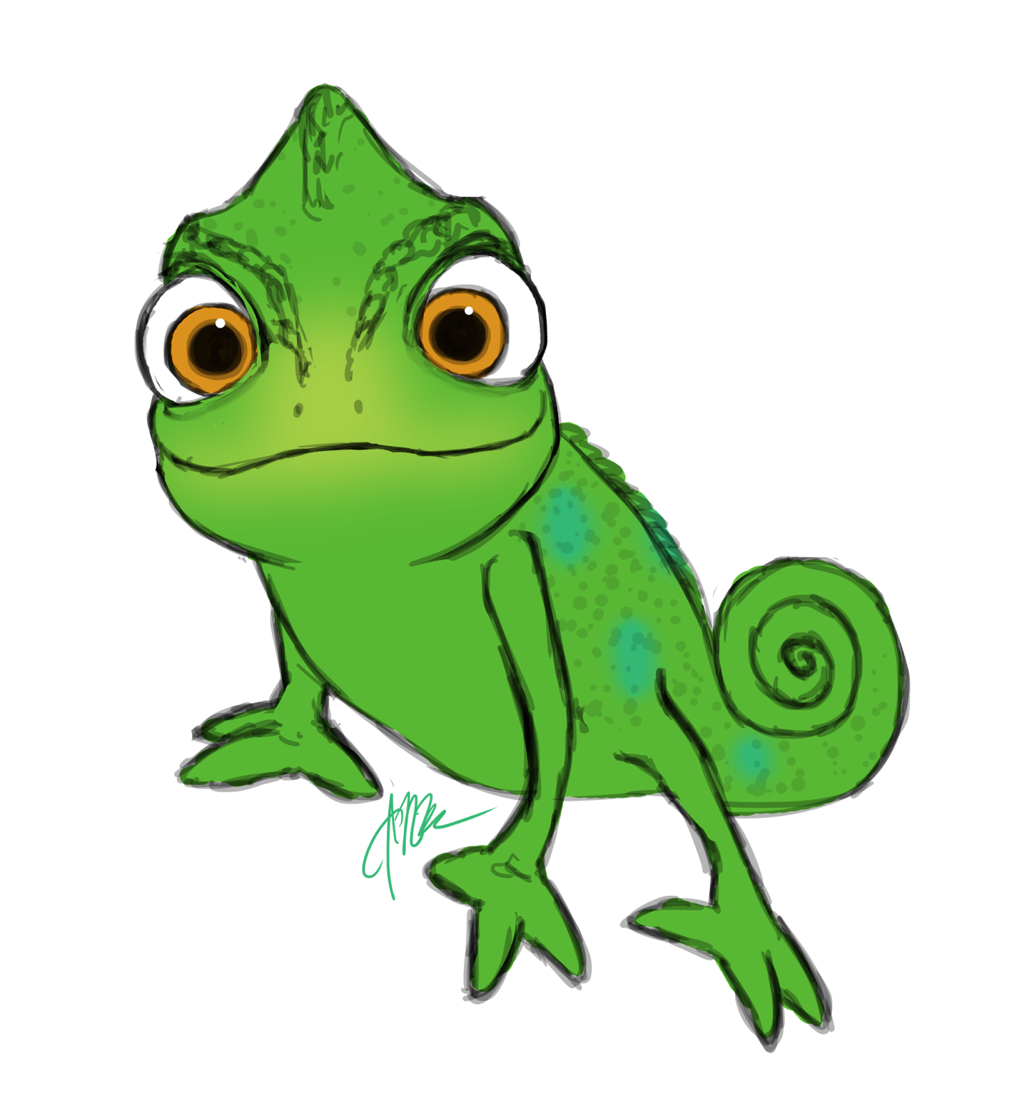 collection of tangled. Gecko clipart face