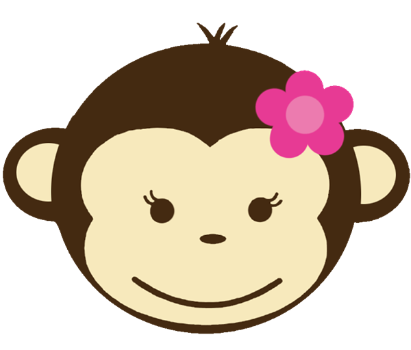 Monkeys clipart lady. Baby monkey face clip