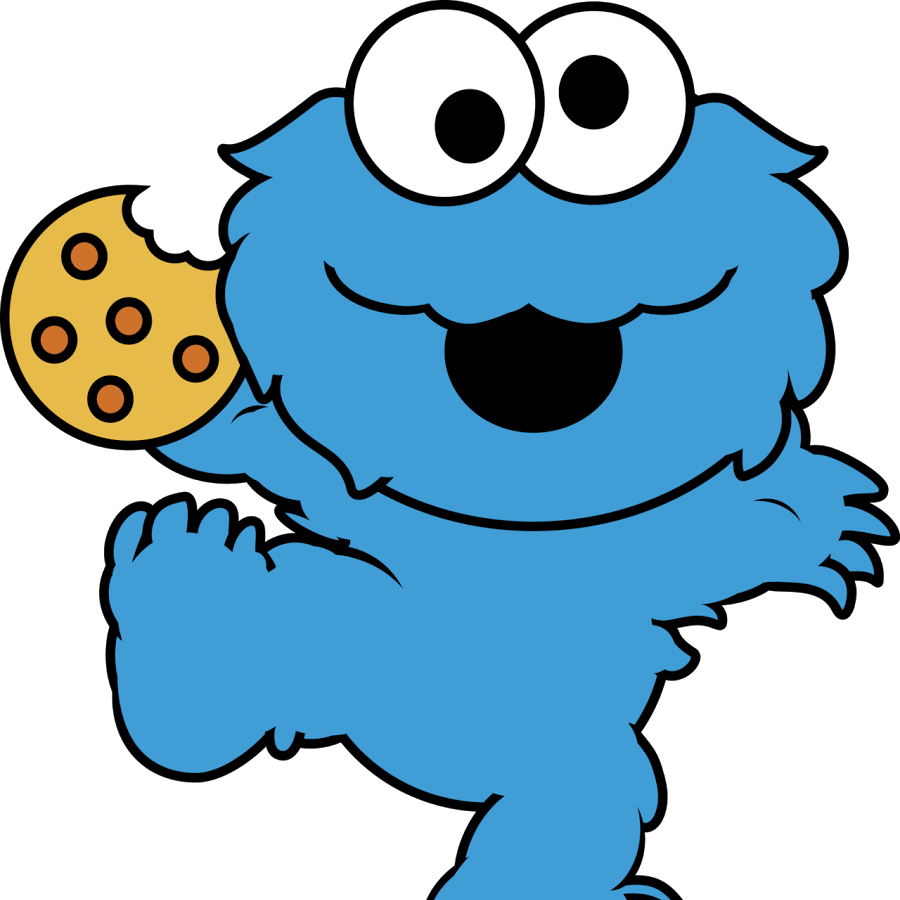 Monster silhouette at getdrawings. Clipart cookies batch cookie
