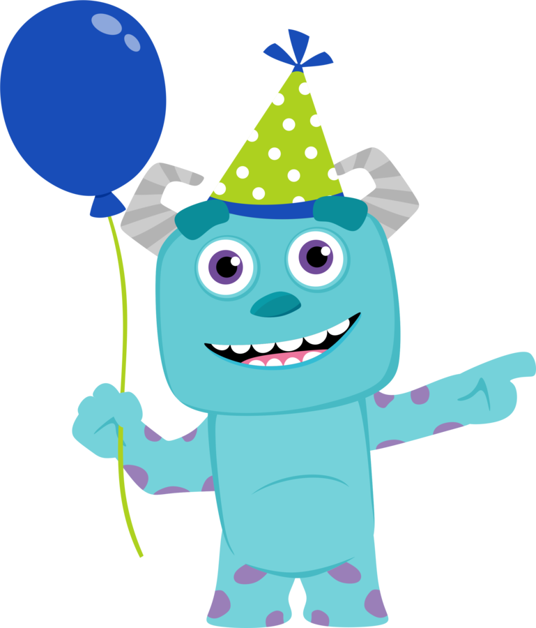 Baby monsters party oh. Monster clipart blue monster