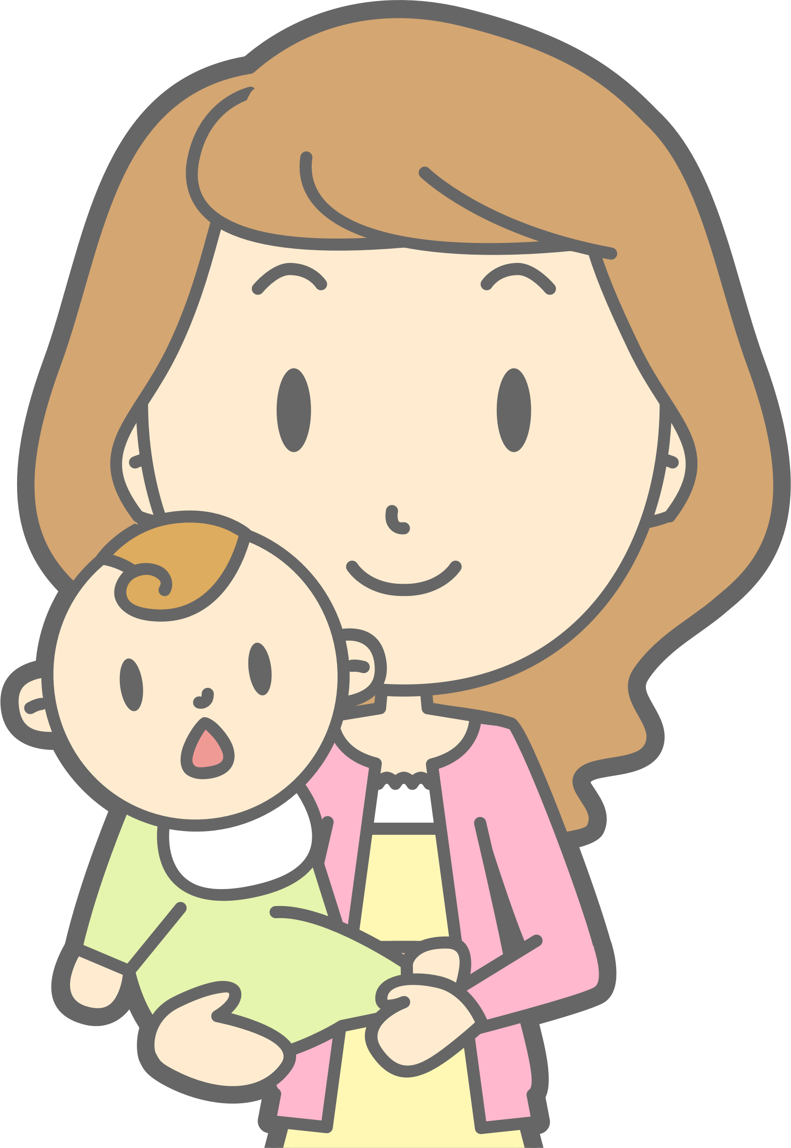 Clipart mom office. Mother and baby big