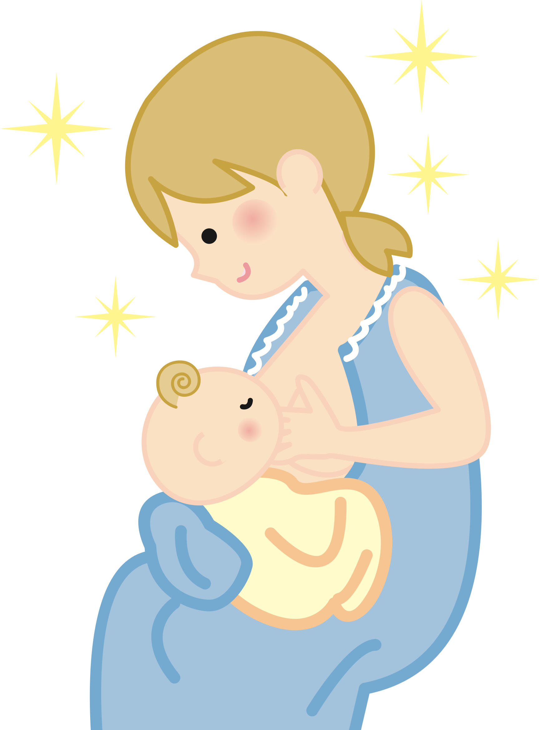 Mother and baby big. Clipart mom office