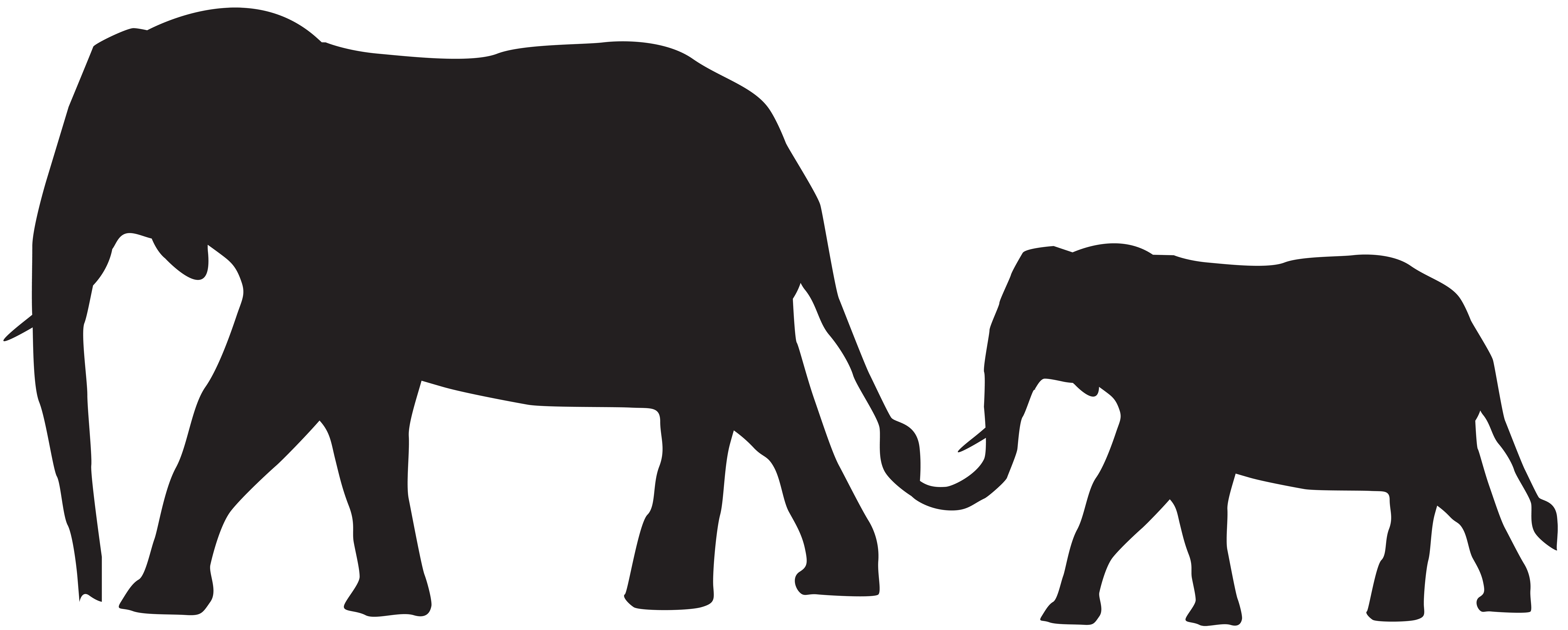 And baby elephants png. Mother clipart silhouette
