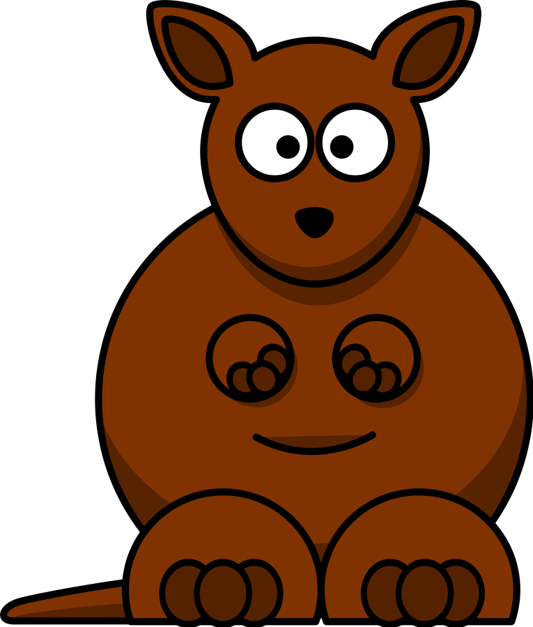 Baby kangaroo clip art. Want clipart greedy child