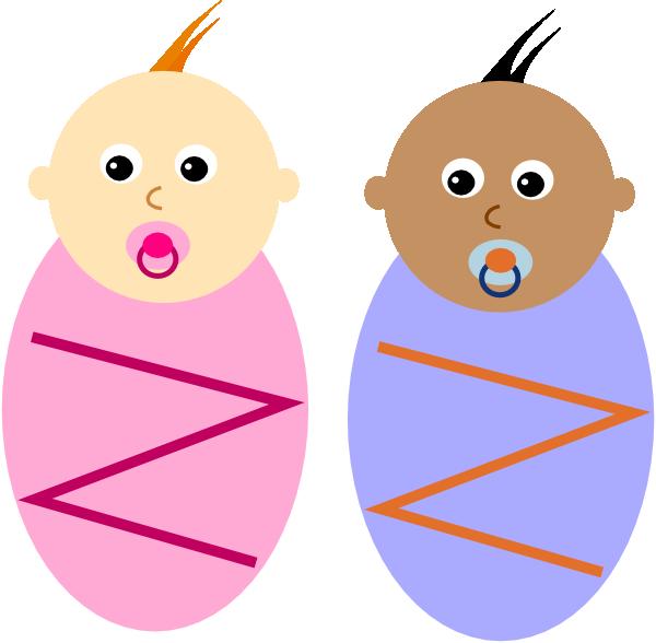 Newborn babies clip art. Diversity clipart domain 3