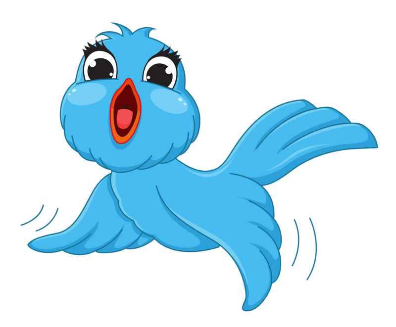Birds clip art cartoon. Pet clipart blue bird
