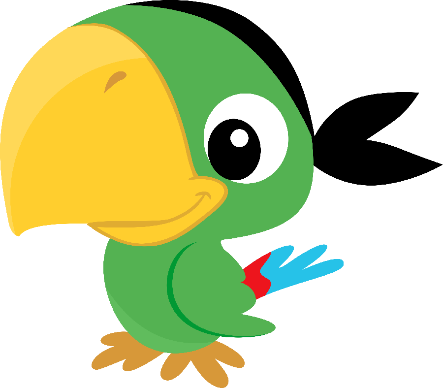 Parrot clip art pinturas. Ducks clipart short animal