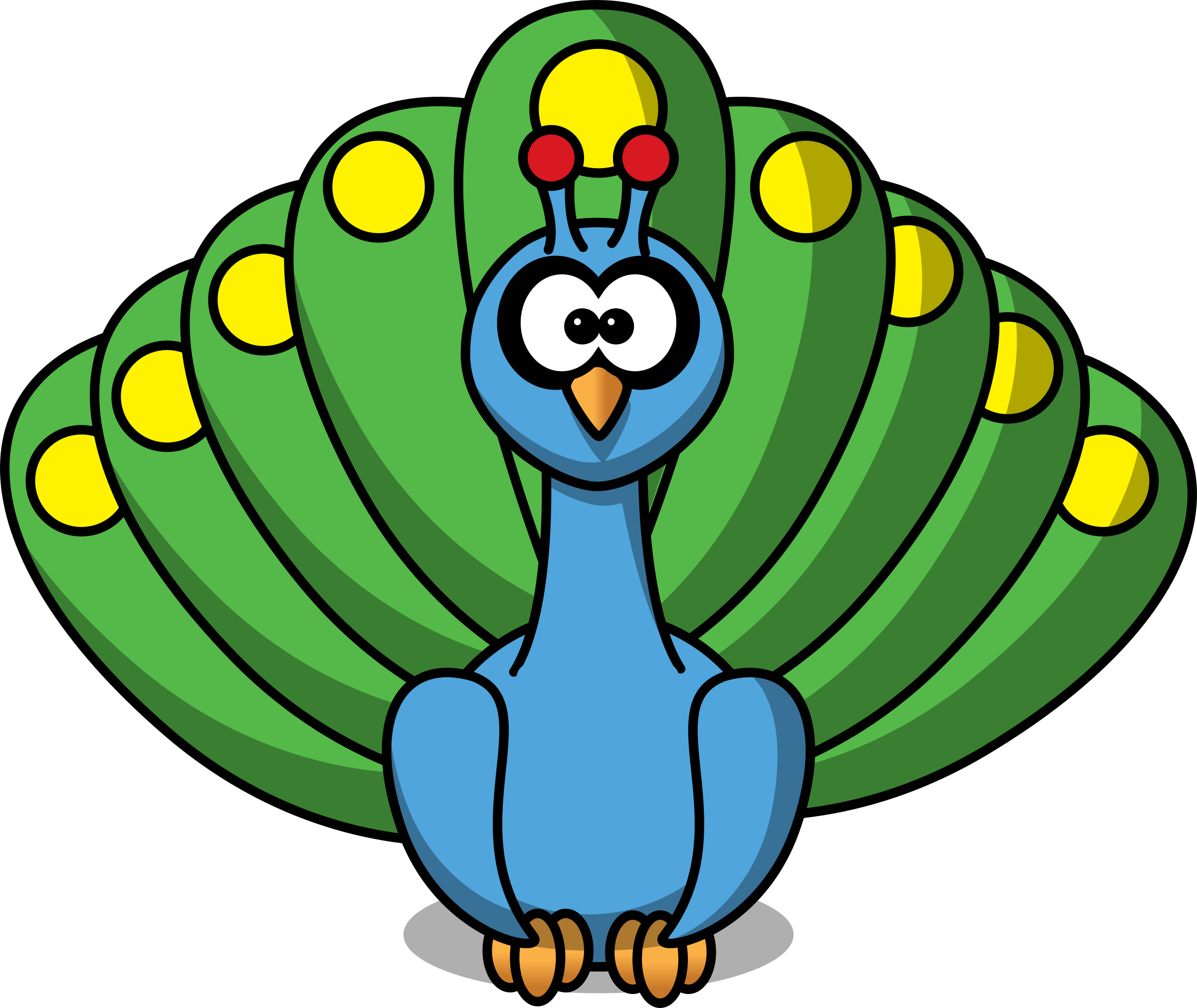Cute clipart march. Cartoon peacock by studiofibonacci
