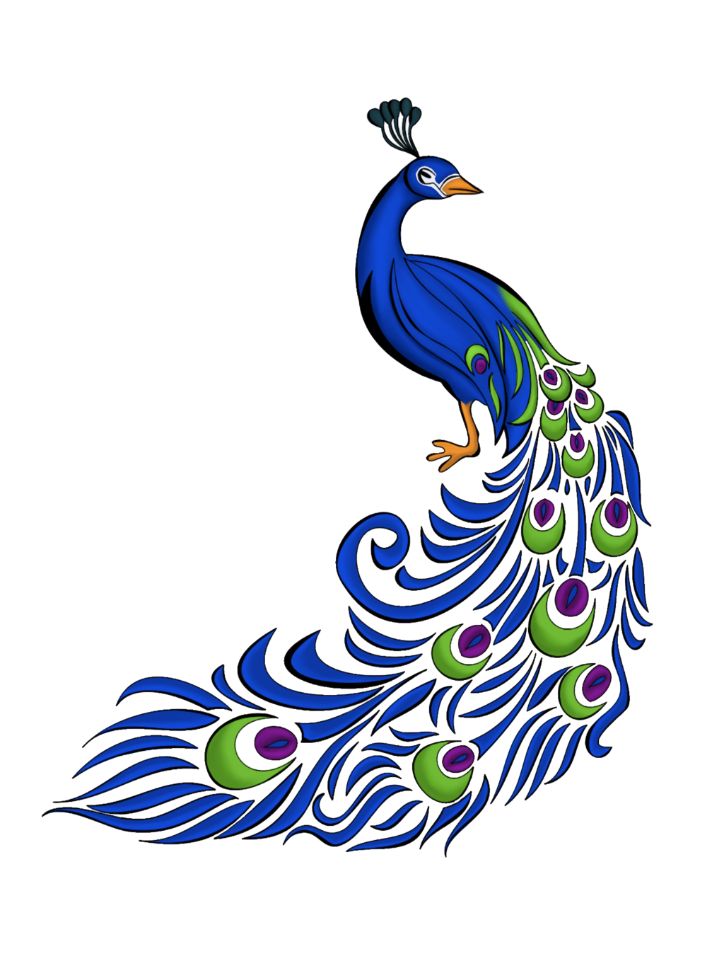 collection of images. Clipart designs peacock