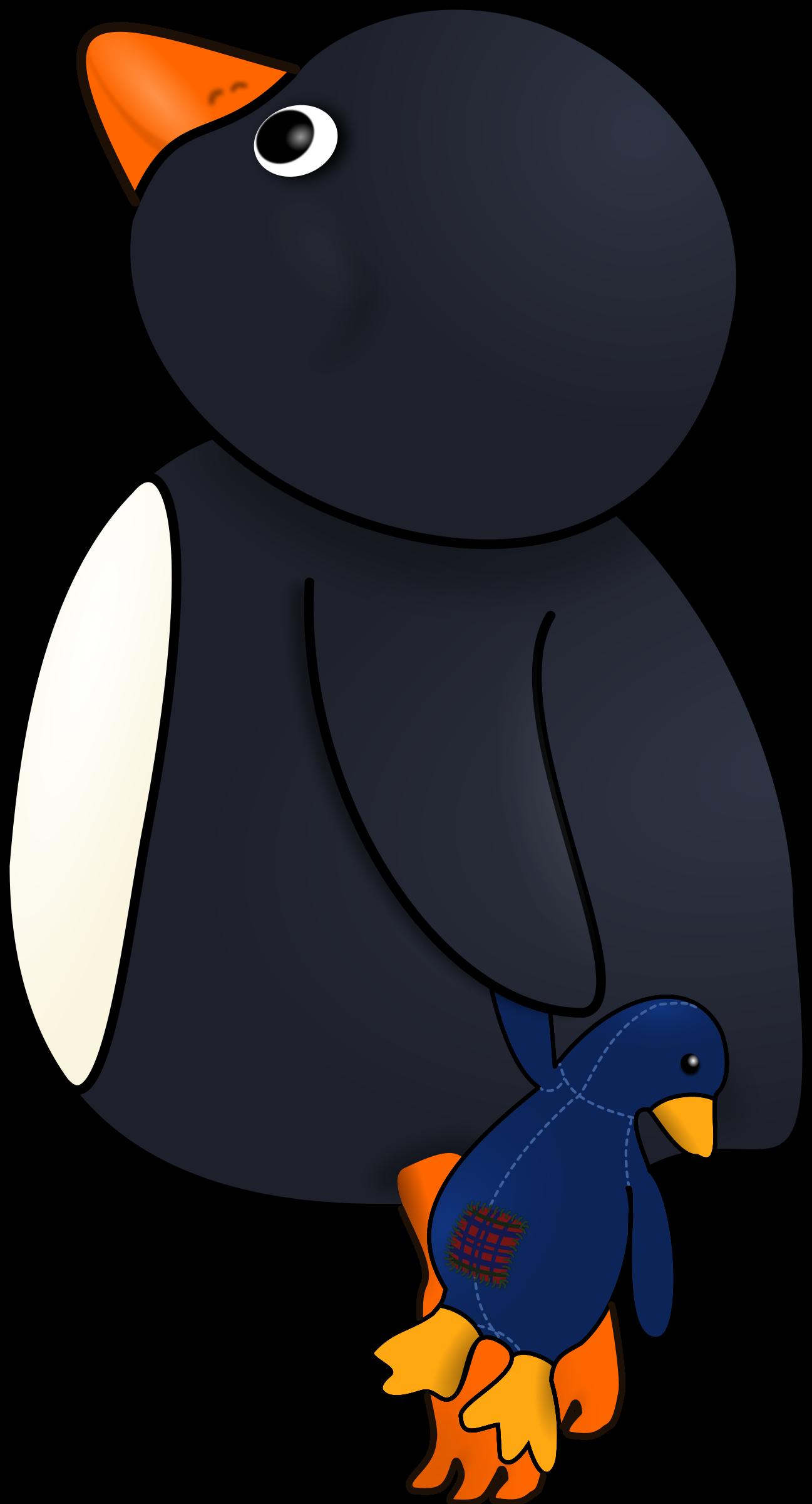 Little on tiptoes big. Clipart penguin child