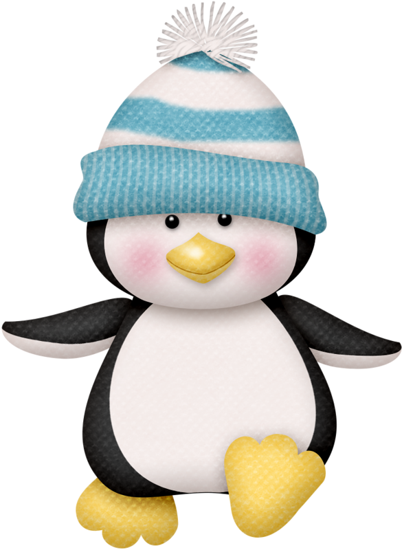 Clipart winter baby. Penguin clip art lutin