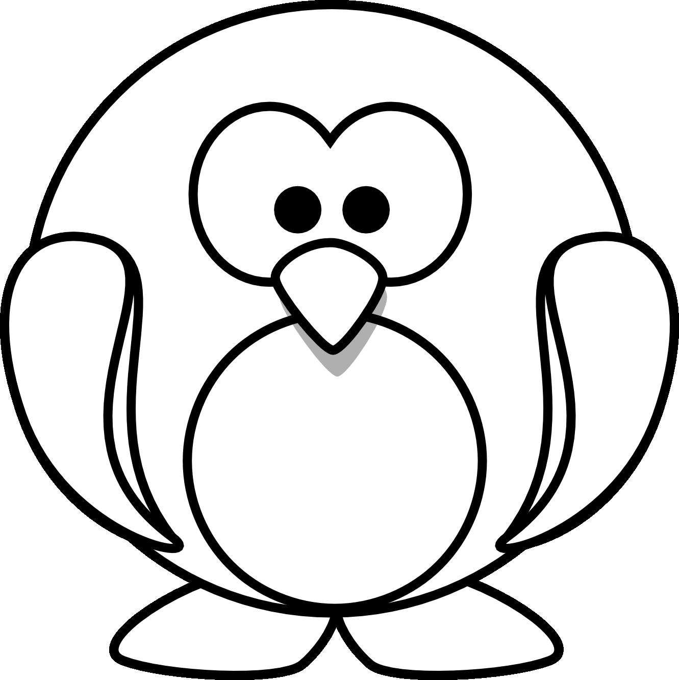 Penguin outline drawing at. Clipart penquin illustration