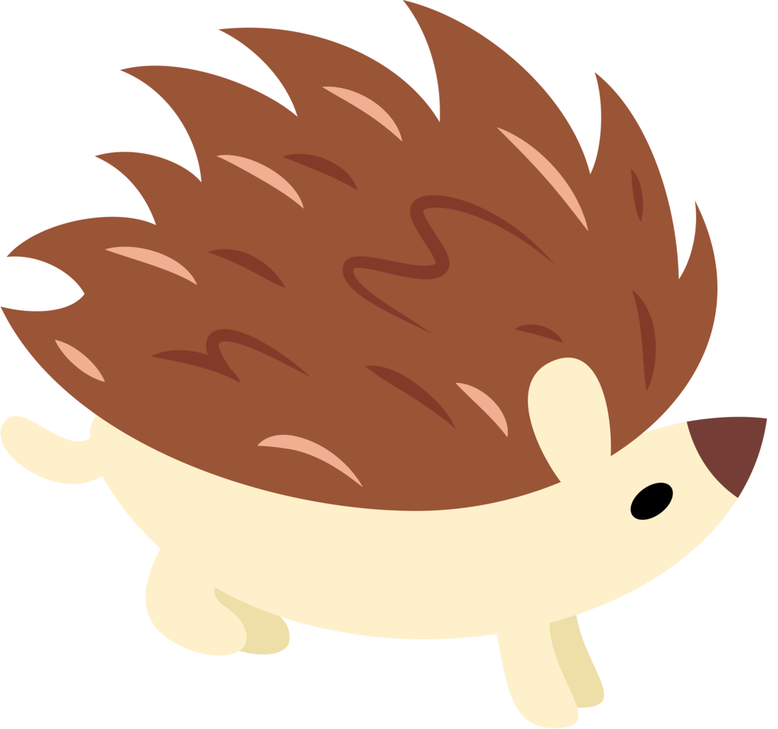 clipart sleeping hedgehog
