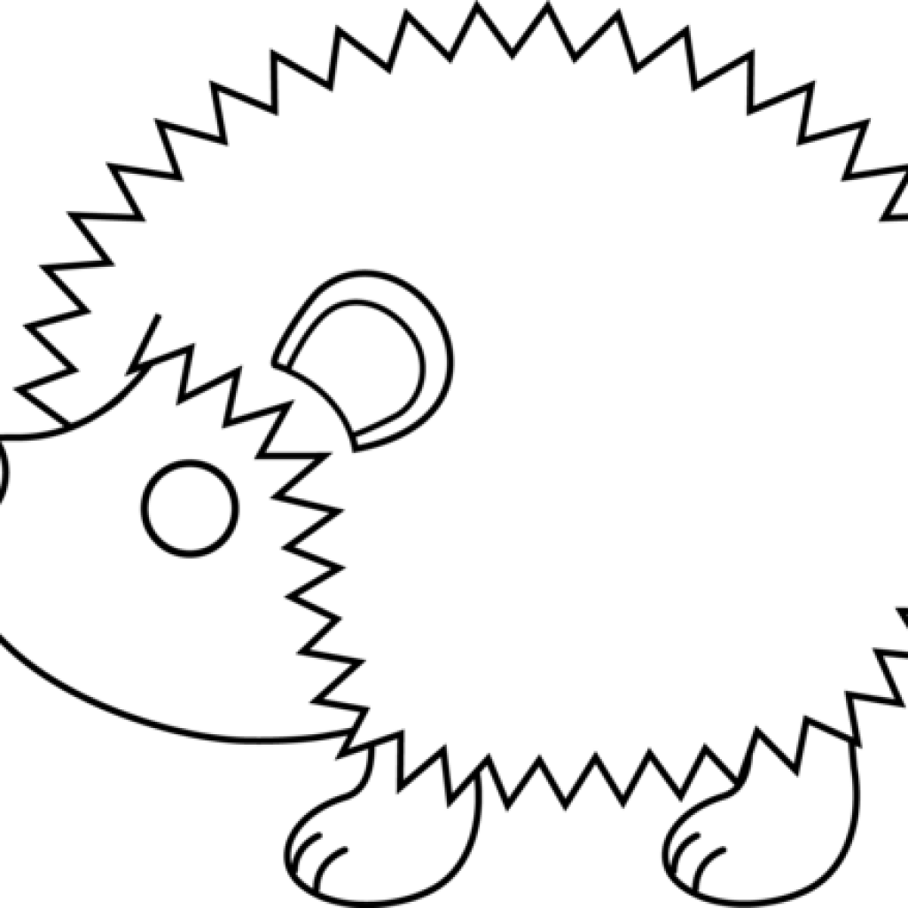 Hedgehog clipart baby hedgehog. Black and white alternative