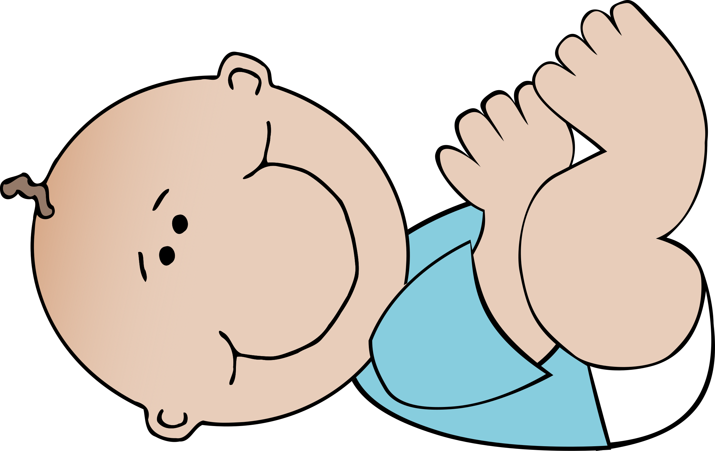 Infant clipart sit. Baby boy lying big