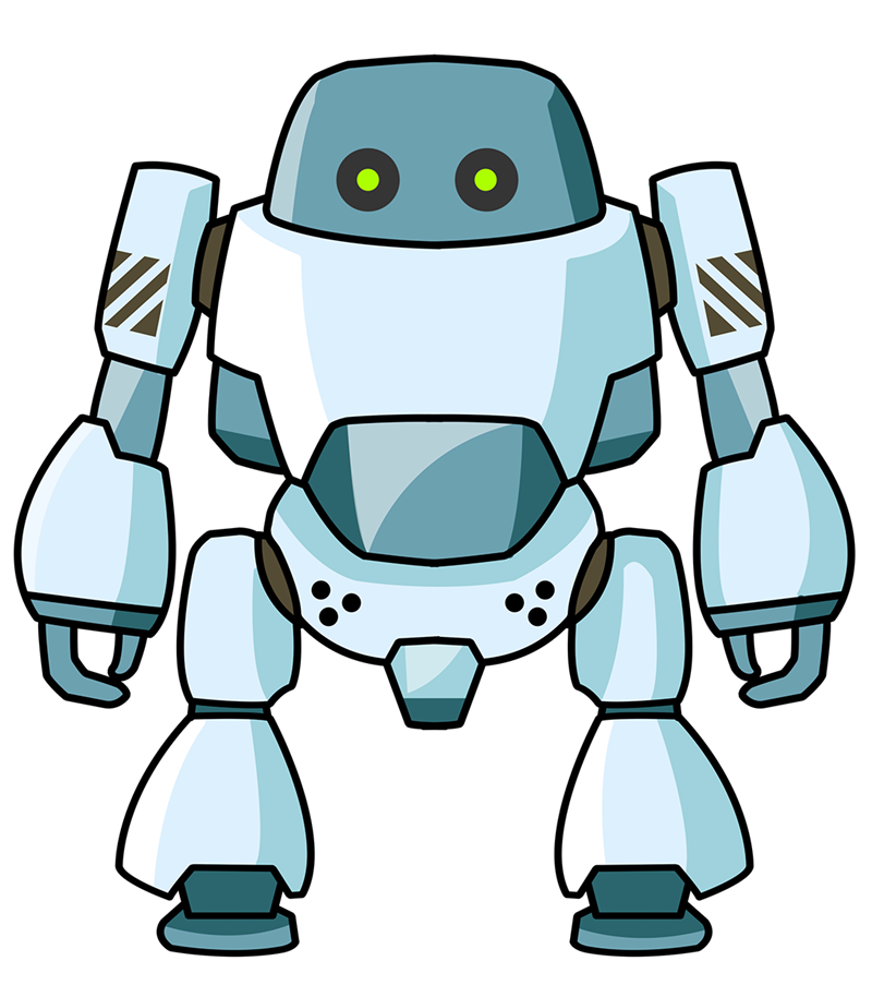 Dig clipart cartoon. Robots google search pinterest