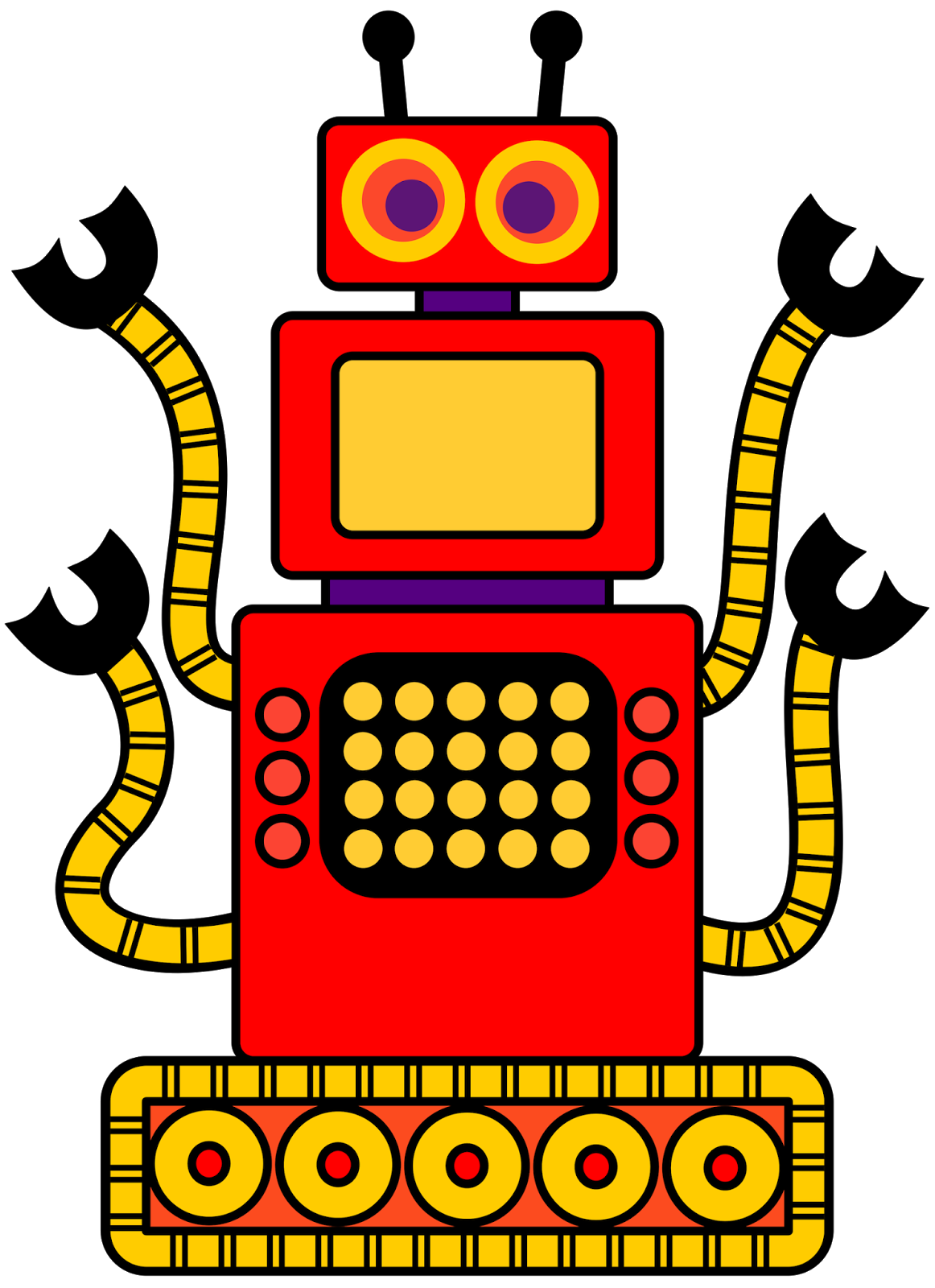 Free robot clip art. Dishwasher clipart job chart