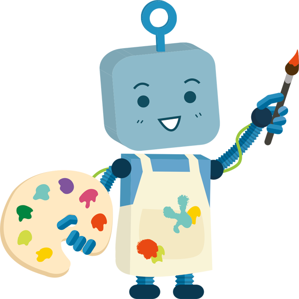 Painter clipart painting material. Robot png image purepng