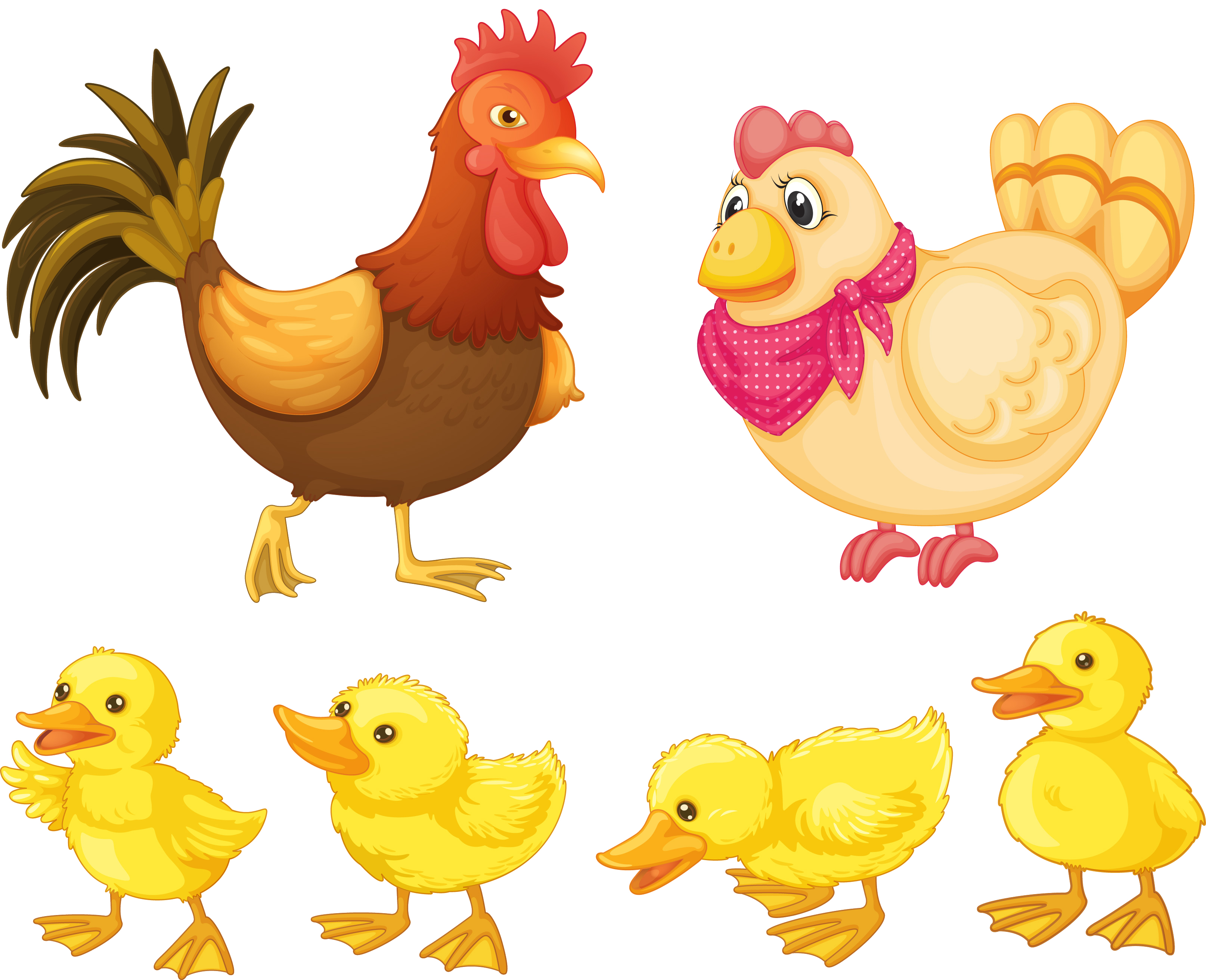 Hen clipart animal family. Chicken rooster clip art