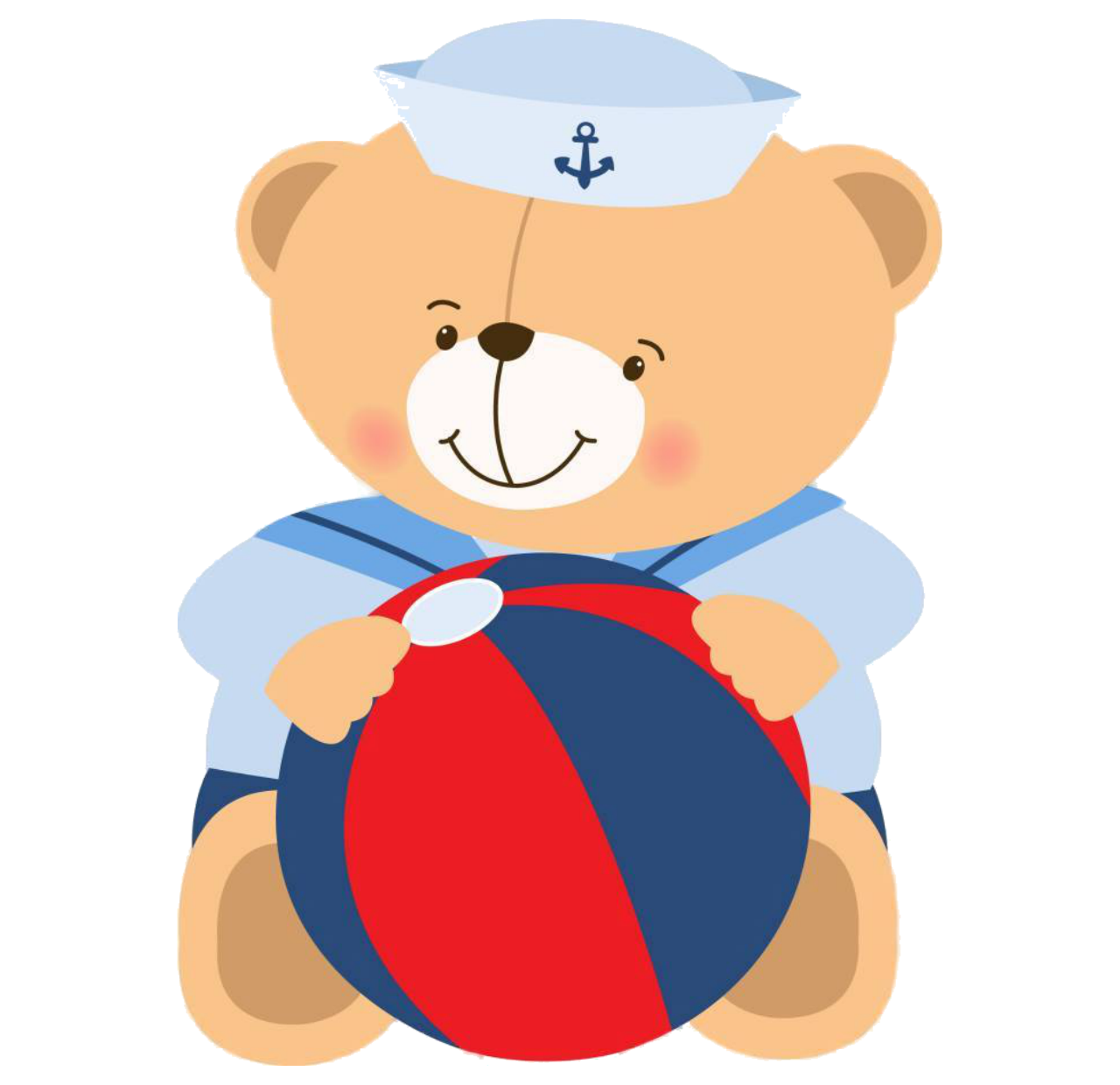 Clipart beach bear. Sailor pretty png marinheiro
