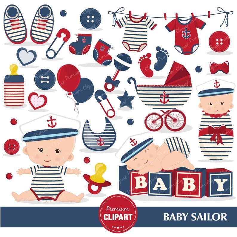 Sailor sailing graphics boy. Nautical clipart nautical baby shower
