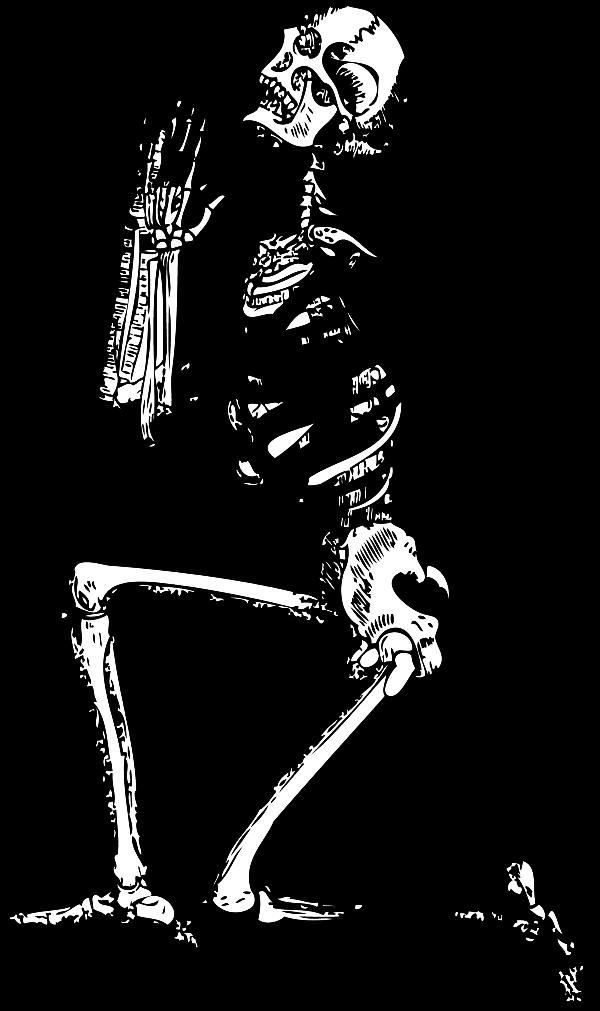 Clipart halloween bone. Skeleton clip art praying