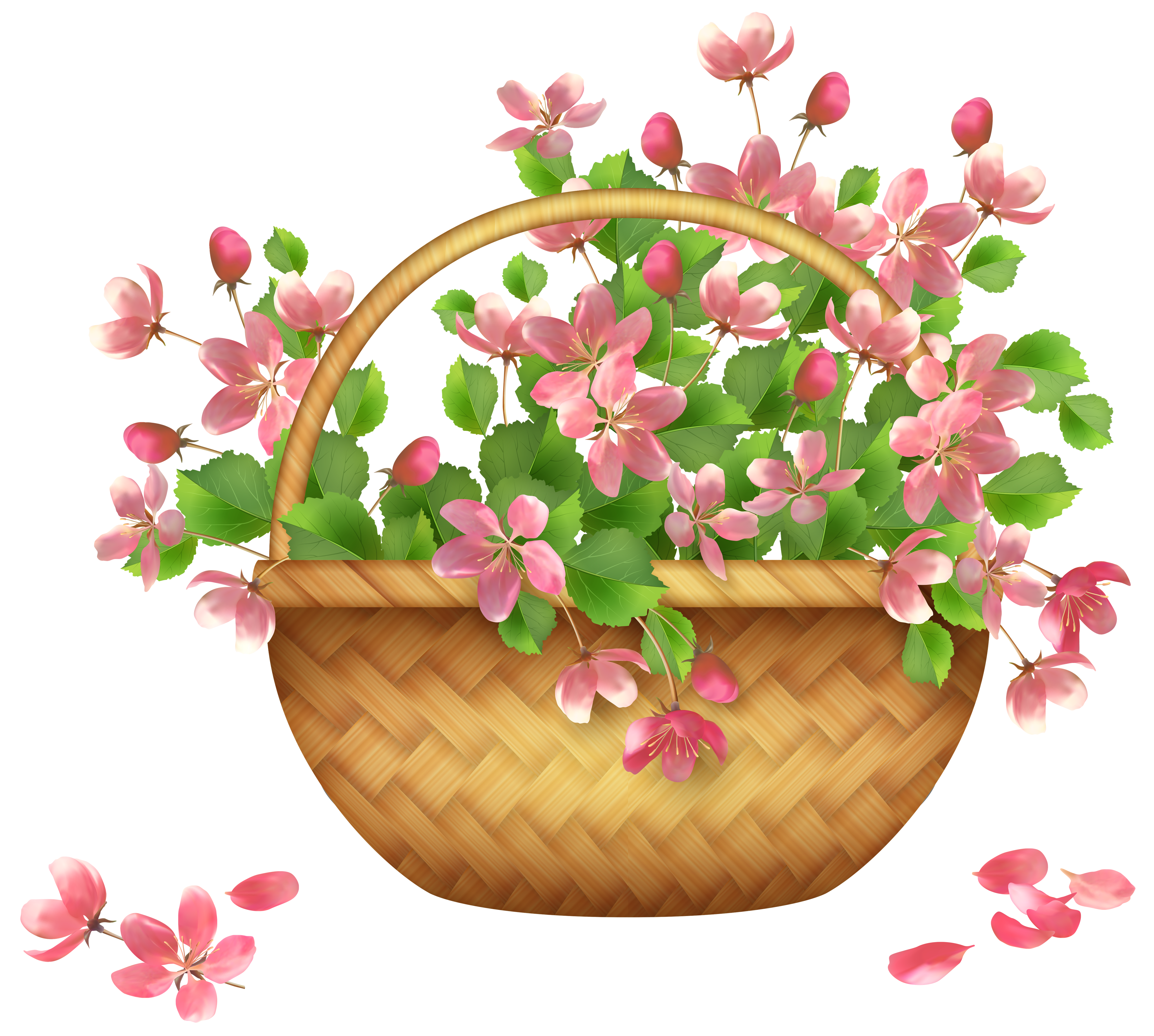 Flower basket png gallery. Food clipart spring