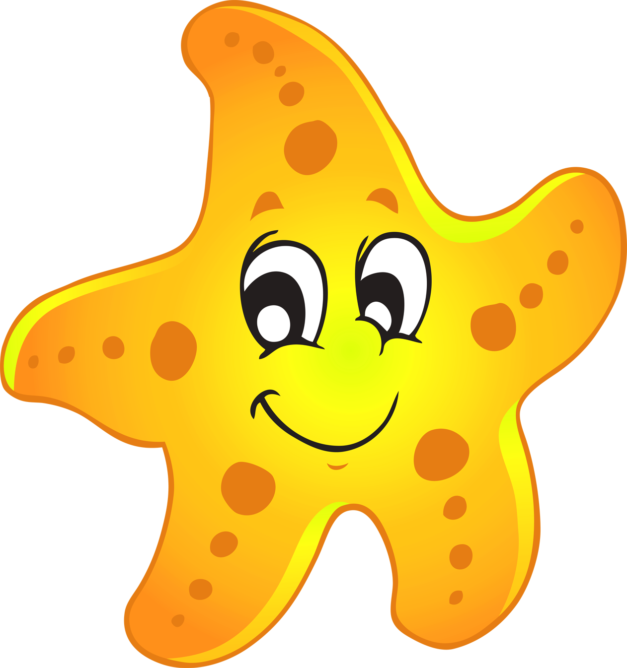 collection of yellow. Nautical clipart starfish