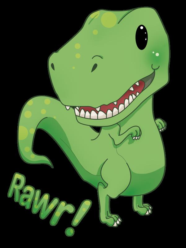 Clipart dinosaur kawaii. Rawr by chiichanny on