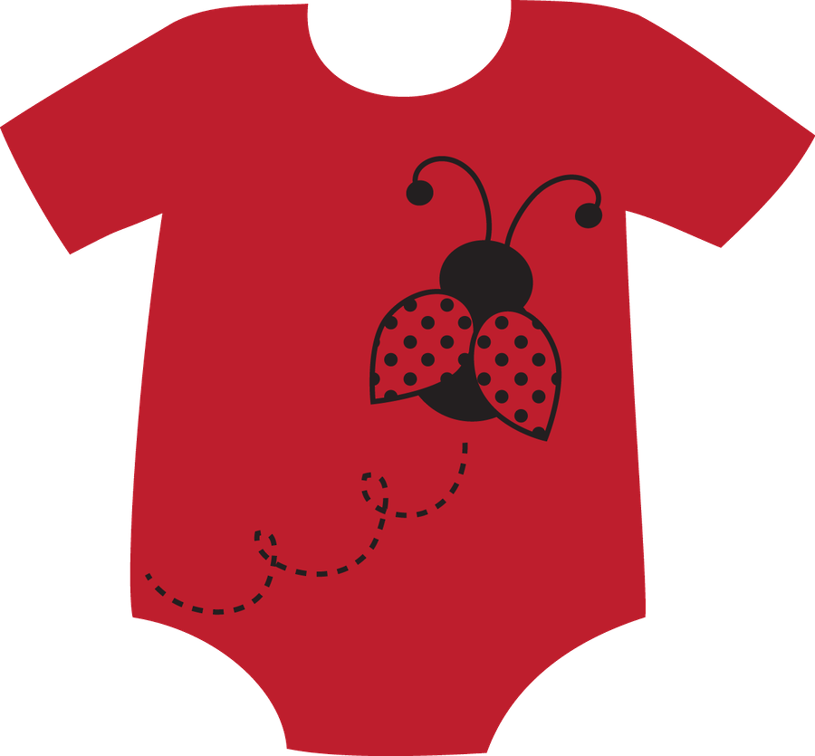 red clipart baby onesie #140575140