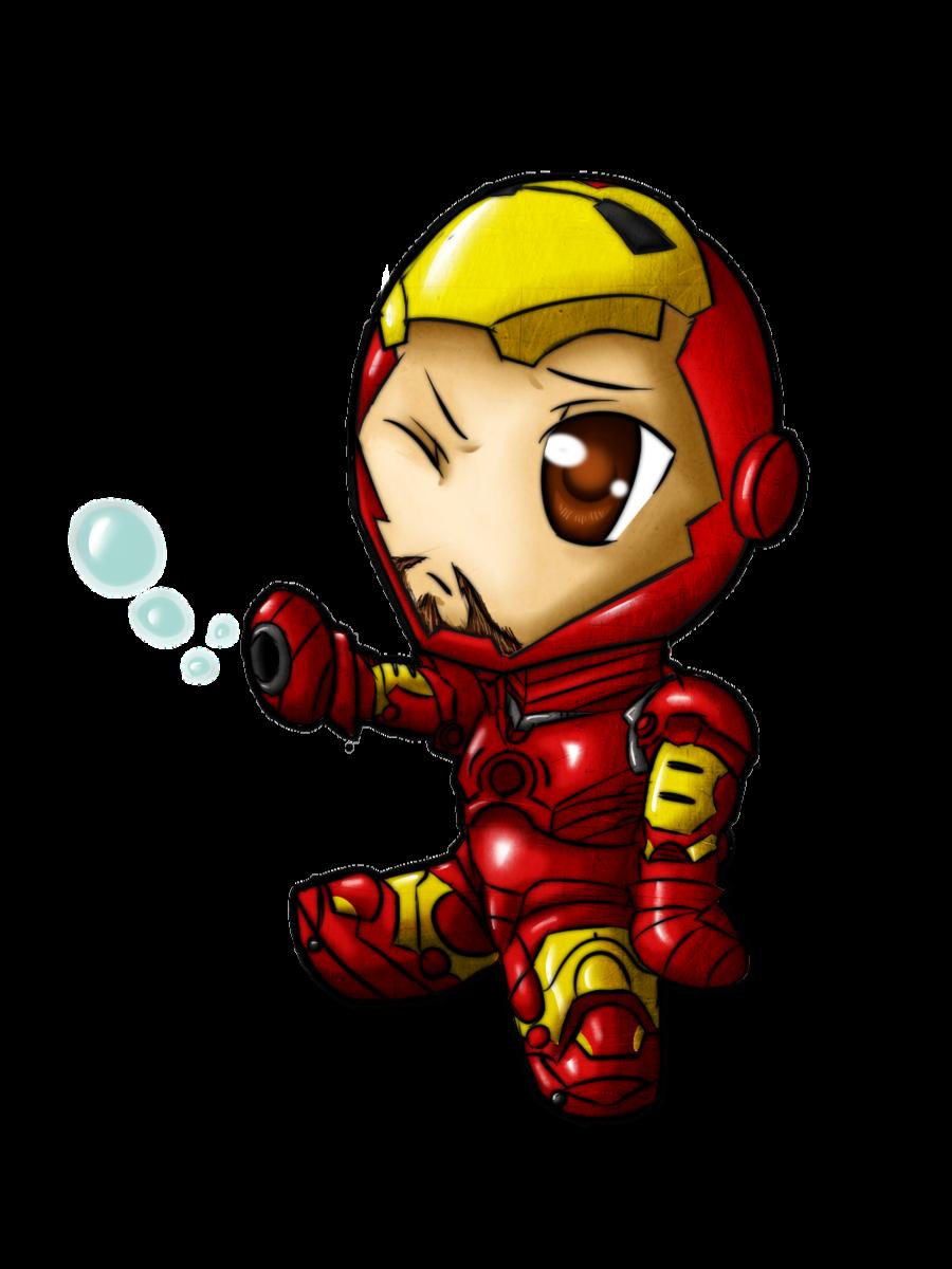 Iron man baby friend. Fighting clipart smoke