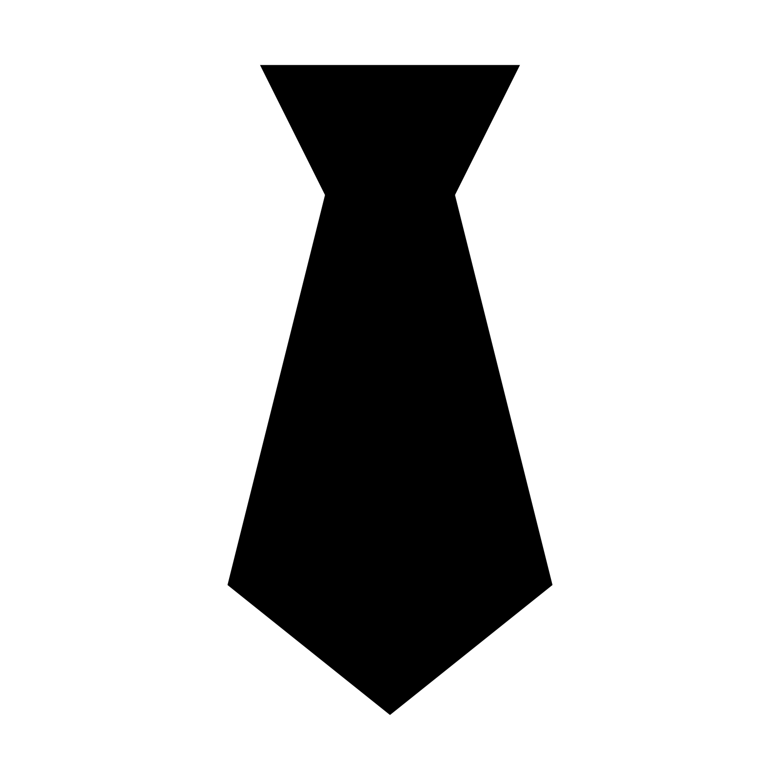 Flute clipart svg. Necktie silhouette at getdrawings