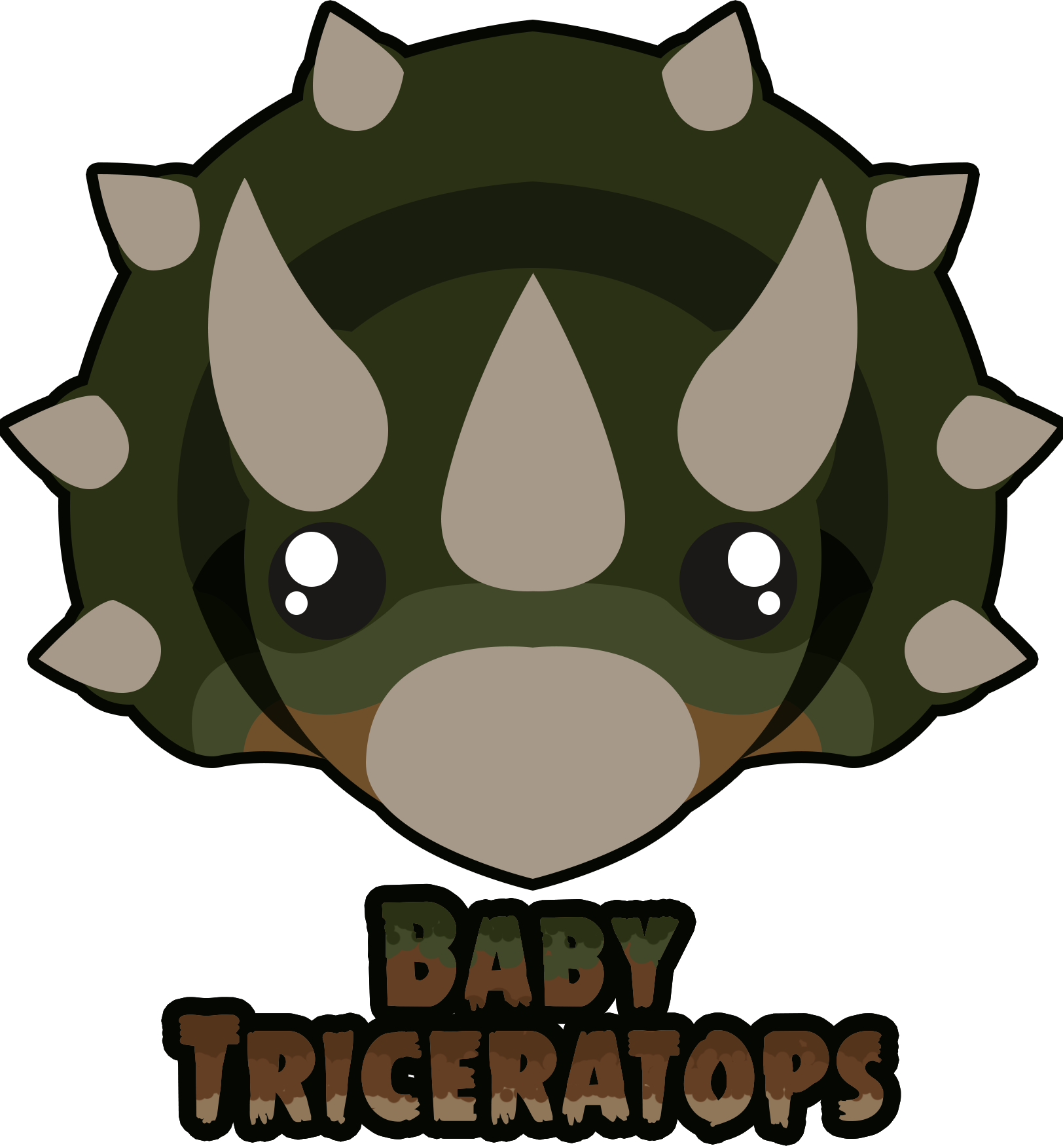 Baby triceratops mod by. Fist clipart ally