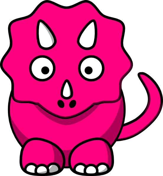 Pink baby dinosaur clip. Infant clipart bloody child