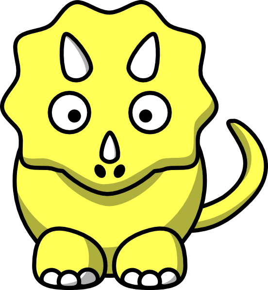 Head clipart triceratops. Yellow clip art at