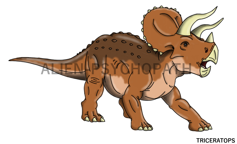Trex clipart triceratops. Jurassic park by alien