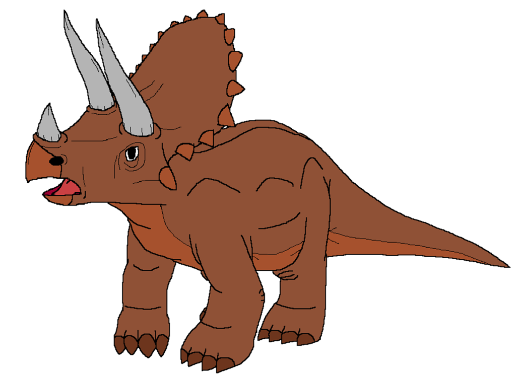 Dinosaur clipart triceratop. Triceratops by kylgrv on