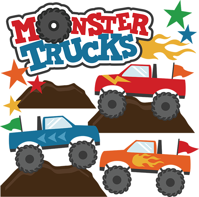 Valentine clipart truck. Monster trucks svg scrapbook