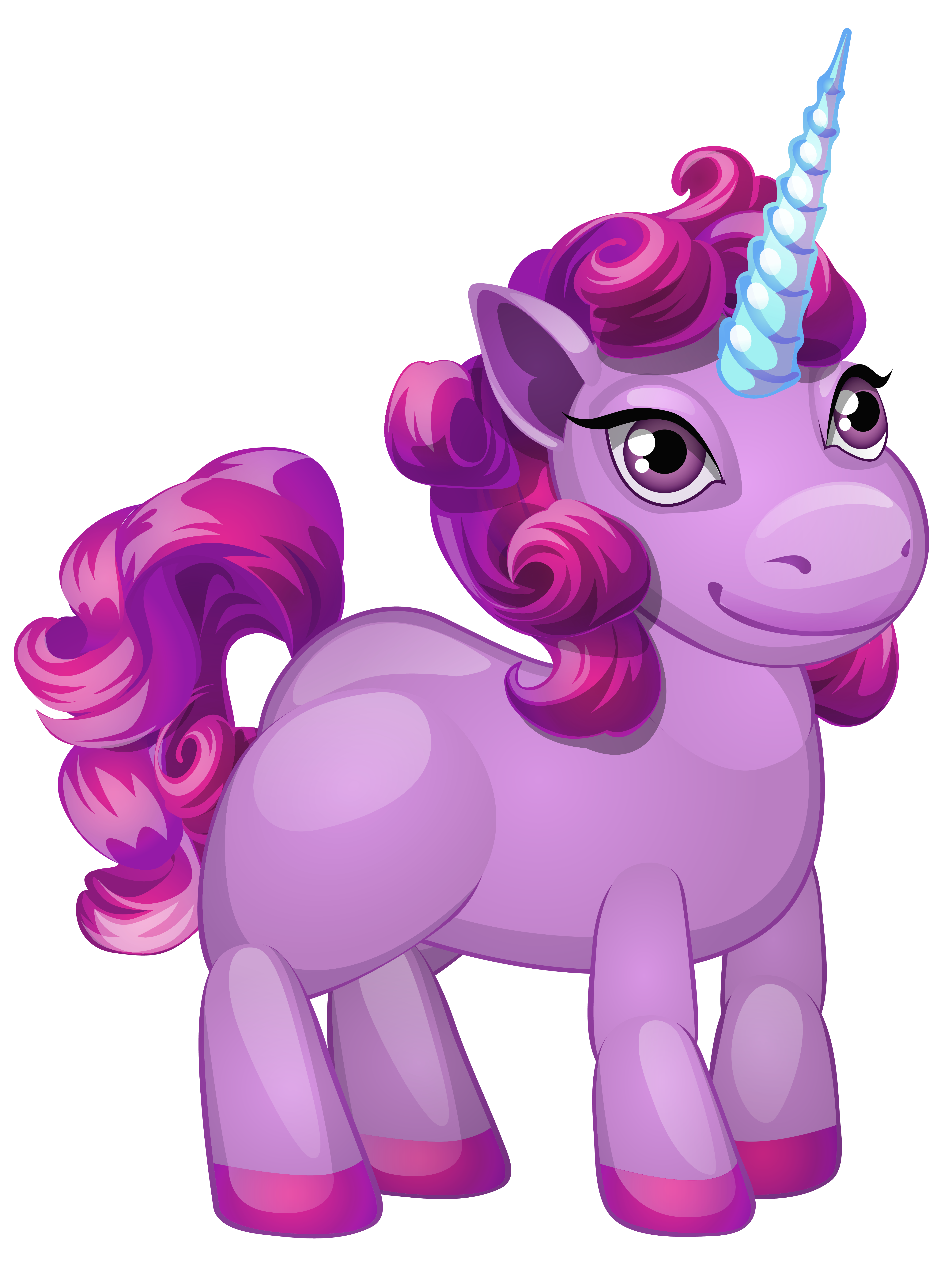 Clipart unicorn pony. Cute purple png clip