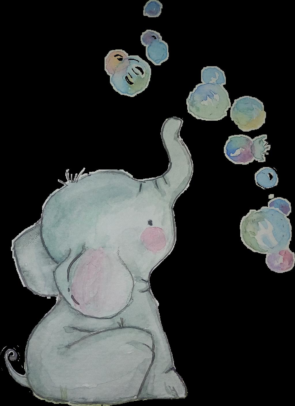clipart elephant watercolor